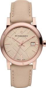 Burberry Women's BU9109 Beige Leather Strap Watch