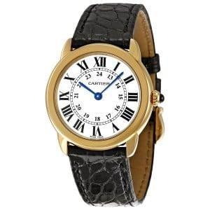 Cartier Women's W6700355 Ronde Solo Crocodile strap Watch