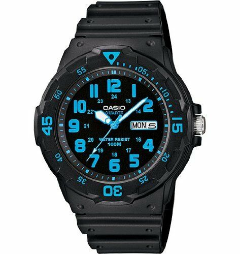 Casio Unisex MRW200H-2BV Neo-Display Black watch for nursing students