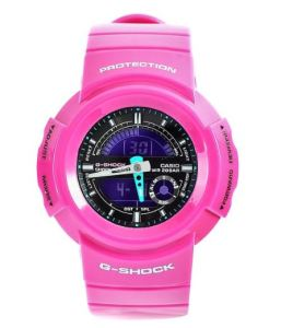 Casio Women's AW582SC-4 G-Shock Pink Resin Ana-Digi Shock Resistant Watch