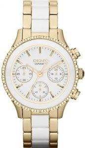 DKNY Gold-Tone And Ceramic Chronograph Ladies Watch NY8830