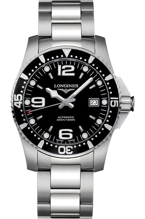 Longines Black Dial HydroConquest Automatic Diver best mechanical watch