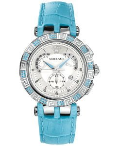 Versace Women's 23C935D002 S535 V-RACE CHRONO Analog Display Quartz Blue Watch