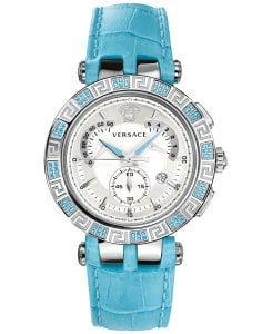 Versace Women's 23C935D002 S535 V-RACE CHRONO Analog Display Quartz Blue Watch