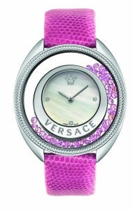 Versace Women's 86Q951MD497 S111 Destiny Spirit Pink Leather Diamond Wristwatch