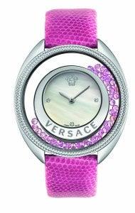 Versace Women's 86Q951MD497 S111 Destiny Spirit Pink Leather Diamond Wristwatch