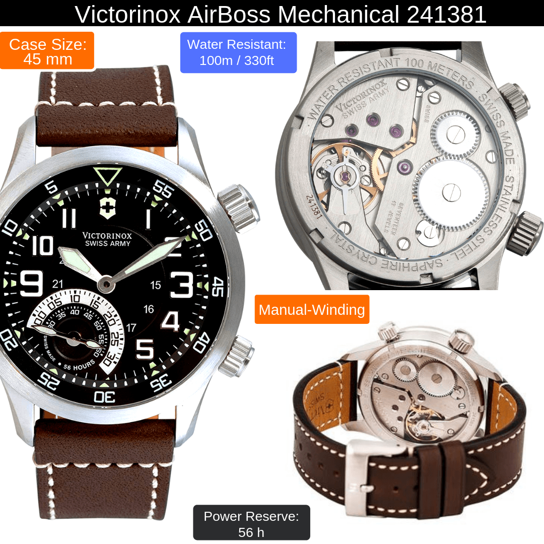 victorinox airboss mechanical watch for men