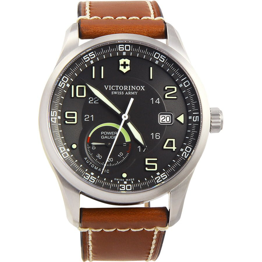 best mechanical watches for men - s 241575 AirBoss Analog Display Swiss Automatic Brown Watch