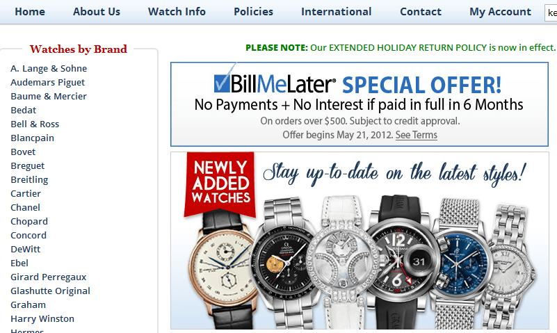 purchase watches online