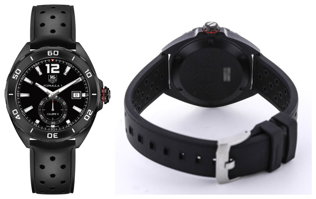 Tag Heuer Formula 1 Automatic Black Dial Black Rubber Mens Watch WAZ2112.FT8023