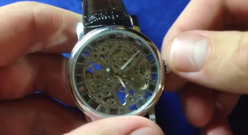 winding a mechanical wrist watch